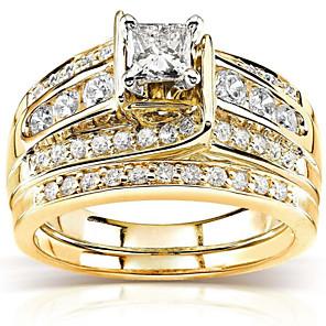 povoljno Prstenje-Žene Prsten Kubični Zirconia 3pcs Zlato Pozlaćeni Geometric Shape Moda Dnevno Praznik Jewelry Geometrijski Csillag Cool