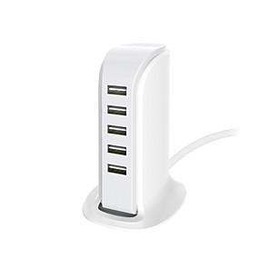 ieftine încărcător cu cablu-încărcător de andocare / încărcător pentru casă încărcător USB usb multi-ieșire / normal 5 porturi USB 4 a 100 ~ 240 v pentru universal