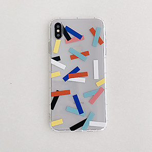 ieftine Carcase iPhone-Maska Pentru Apple iPhone 11 / iPhone 11 Pro / iPhone 11 Pro Max Ultra subțire / Model Capac Spate Transparent / Model Geometric TPU