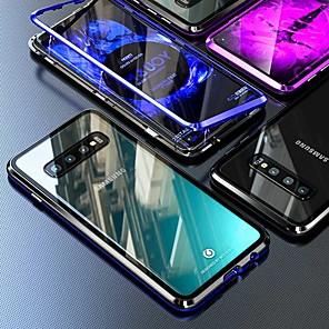 povoljno Zaštitne folije za Samsung-magnetska futrola za samsung galaxy note 10 plus / s10 plus / a9 (2018) coque 360 dvostrano kaljeno staklo metalni telefon telefon fundas poklopac magnetnih futrola za samsung s9 plus / s8 plus / a50