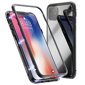 povoljno iPhone maske-Θήκη Za Apple iPhone 11 / iPhone 11 Pro / iPhone 11 Pro Max S magnetom Stražnja maska Jednobojni Kaljeno staklo / Metal