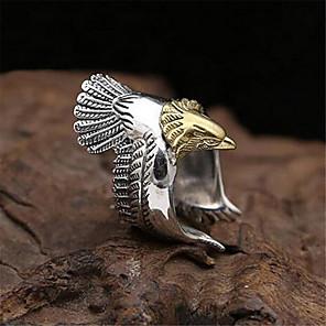 ieftine Bijuterii Bărbați-Bărbați Inel deschis Inel reglabil 1 buc Auriu Argintiu Articole de ceramică Argilă Geometric Shape Vintage Modă Zilnic Stradă Bijuterii #D Vultur Prețios Cool