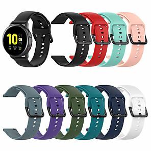 Недорогие Часы для Samsung-Спортивный силиконовый ремешок для часов для samsung galaxy watch active 2 / galaxy watch 42mm / gear s2 classic / gear Спортивный сменный браслет ремешок на запястье браслет