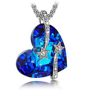 ieftine Inele-Bărbați Pentru femei Coliere cu Pandativ Lănțișor Oțel titan Albastru 45 cm Coliere Bijuterii 1 buc Pentru Cadou Zilnic Școală Stradă
