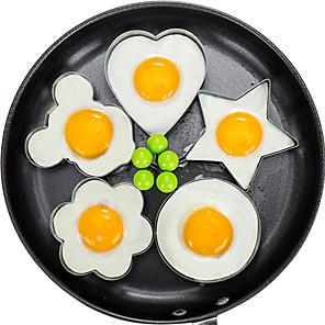 voordelige Wanddecoratie-5 stks / set gebakken eierpannenkoek shaper omelet schimmel schimmel frituren ei kookgerei keuken accessoires gadget ringen