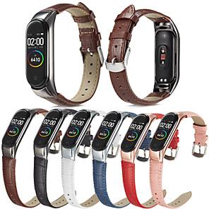 Недорогие Ремешки для часов Xiaomi-ремешок для часов для xiaomi band 5 xiaomi leather loop стеганый ремешок из искусственной кожи