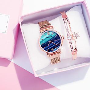 ieftine Cuarț ceasuri-Pentru femei Quartz O noua sosire Modă Auriu Aliaj Quartz Alb+Negru Alb+Rroz Alb / verde Cronograf Ceas Casual Cool 2 Piese Analog