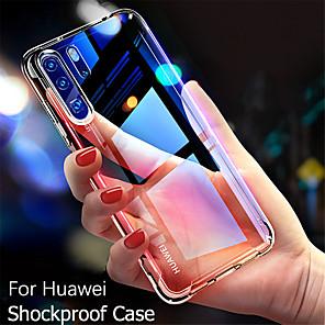 povoljno Maske/futrole za Huawei-futrola za huawei mate 30 / mate 30 pro / mate 20 pro / mate 20 / mate 20 lite / p30 / p20 / p10 otporan na udarce / ultra tanki stražnji poklopac prozirni tpu