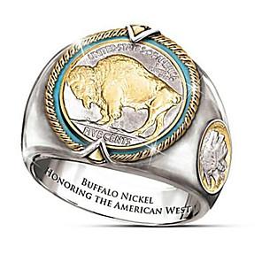 povoljno Prstenje-Muškarci Prsten 1pc Zlato mesing Geometric Shape Moda Dnevno Praznik Jewelry Geometrijski Sa životinjama Cool