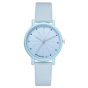 ieftine Cuarț ceasuri-Pentru femei Quartz O noua sosire Modă Albastru Verde Gri PU piele Chineză Quartz Alb Albastru piscină Mov Cronograf Ceas Casual Adorabil 1 piesă Analog Un an Durată de Viaţă Baterie