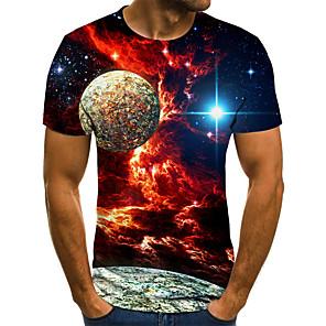 お買い得  メンズ・ベルト-男性用 Tシャツ 3D ルビーレッド