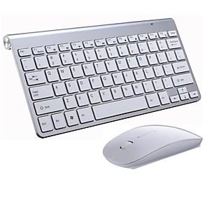 povoljno Tipkovnica i miš-LITBest M6 Wireless 2.4GHz Tipkovnica miša kombinirana Mini / Prijenosno / Uredsku uporabu gaming tipkovnica / Ergonomska tipkovnica / Multimedija tipkovnica Mini / Igranje / Vodootpornost igraći mi