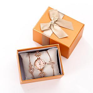 ieftine Lanterne de Mână-Pentru femei Quartz Quartz Oțel inoxidabil Roz auriu Cronograf Draguț Adorabil Analog O noua sosire Elegant - Roz auriu Un an Durată de Viaţă Baterie