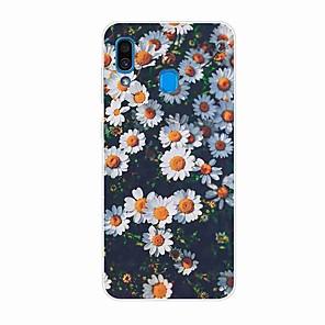 Недорогие Чехлы и кейсы для Galaxy S3-Кейс для Назначение SSamsung Galaxy S9 / S9 Plus / S8 Plus С узором Кейс на заднюю панель Цветы ТПУ