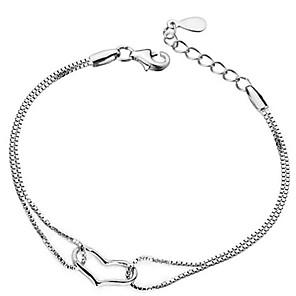 ieftine Inele-Brățară de argint sterlină din argint 925, brățară și brățară pentru femei, valentină, zi cadou lungime reglabilă 16-22cm