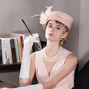 levne Ozdoby do vlasů-Žena Party Léto Len Zvonovitý klobouk