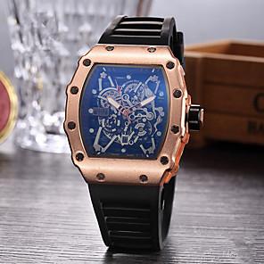 ieftine Cuarț ceasuri-Bărbați Ceas Sport Ceas Schelet Ceas de Mână Quartz Cauciuc Negru Ceas Casual Analog Charm - Negru Argintiu Roz auriu
