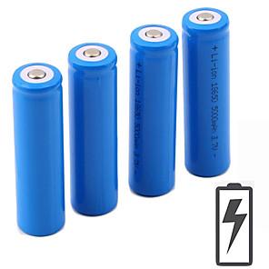 povoljno LED klipaste žarulje-Li-ion 18650 baterija 5000 mAh 4kom 3.7 V Može se puniti Prijenosno za Baterijska svjetiljka Bike Light Prednja svjetla Camping & planinarenje Lov Ribolov
