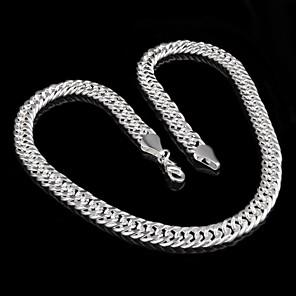 ieftine Colier la Modă-Bărbați Lănțișoare Modă Plastic Argintiu Argintiu Coliere Bijuterii Pentru Petrecere Casual
