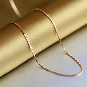 ieftine Colier la Modă-Pentru femei Lănțișoare Lanțuri  Clasic Prețios Modă Articole de ceramică Placat Auriu Roz auriu Auriu 45 cm Coliere Bijuterii 1 buc Pentru Zilnic Muncă