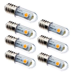 ieftine Becuri LED Lumânare-7pcs 0.5 W Becuri LED Corn 15 lm E14 3 LED-uri de margele SMD 5050 Decorativ Alb Cald Alb 100-240 V