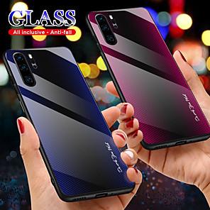 povoljno Maske/futrole za Huawei-futrola za huawei p smart plus 2019 / p smart 2019 / mate 30 pro / mate 30 lite / mate30 / p30pro / p30lite / p30 ultra tanke linije stražnjeg pokrova / valovi tpu / kaljeno staklo
