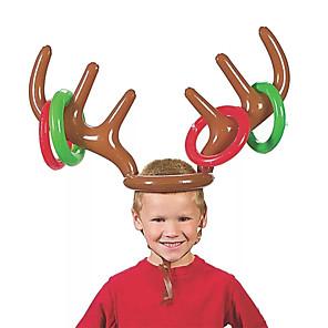 ieftine Decorațiuni de Casă-pvc antler gonflabilă bandă jucării inel cap de animale aruncare cerc jucărie joc renii amuzant cadouri de Crăciun accesorii decor