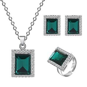 ieftine Seturi de Bijuterii-Pentru femei Seturi de bijuterii Geometric Simplu Clasic Vintage Modă cercei Bijuterii Trifoi Pentru Petrecere / Seară Cadou Bal Festival 1set