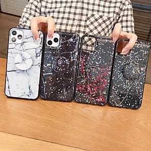 ราคาถูก เคสสำหรับ iPhone-Case สำหรับ Apple iPhone 11 / iPhone 11 Pro / iPhone 11 Pro Max with Stand / Glitter Shine ปกหลัง Glitter Shine / Marble TPU / พีซี