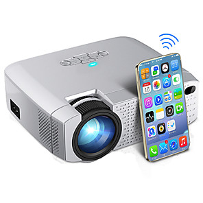 povoljno Sigurnosni senzori-mini projektor koji vodi d40w video projektor za kućno kino 1600 lumena podržava hd bežični sinkronizirani zaslon za iphone / android telefon d40w