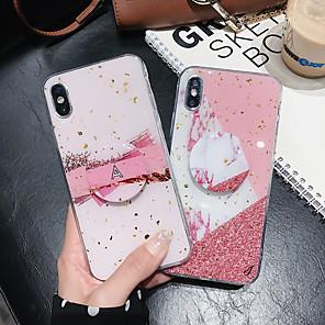 povoljno Maske/futrole za Huawei-Θήκη Za Apple iPhone 11 / iPhone 11 Pro / iPhone 11 Pro Max sa stalkom / Uzorak / Šljokice Stražnja maska Šljokice / Mramor PC