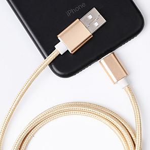 ieftine USB-uri-cablu fulger / tip c 1.m încărcare rapidă din nylon aliaj de cablu de date cablu USB cablu de încărcare date date