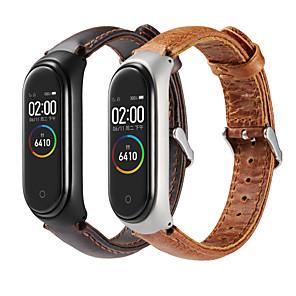 Недорогие Ремешки для часов Xiaomi-Ремешок для часов для Xiaomi Band 4 Xiaomi Классическая застежка Натуральная кожа Повязка на запястье