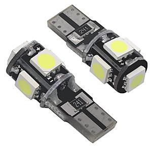 ieftine Becuri De Mașină LED-otolampara placă refractară izolată pentru pcb t10 lumini de control pentru mașini 5w lămpile laterale de marcaj 5 w 7 culori disponibile 2 bucăți