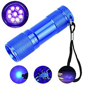 ieftine Brățări-brelong led uv lanternă 395nm 9 ledsportable mini mică torță lumină de detecție violet torță lumină neagră 1 buc
