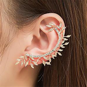 ieftine Colier la Modă-Pentru femei Cercei cu Clip Cătușe pentru urechi Leaf Shape Prețios Modă cercei Bijuterii Auriu / Argintiu Pentru Petrecere Zilnic Stradă 1 buc