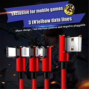 ieftine lanterne-Cablu încărcător de iluminat tip 3 în 1 micro usb tip c pentru iphone x 7 8 6 6s plus pentru cabluri Sony de încărcare lungă 1.5m