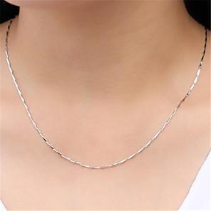 ieftine Colier la Modă-Pentru femei Lănțișoare Lanțuri Clasic Prețios Modă Articole de ceramică Argilă Argintiu 45 cm Coliere Bijuterii 1 buc Pentru Zilnic Stradă Muncă