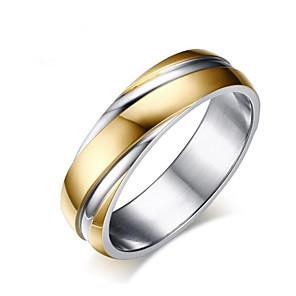 ieftine Inele-Bărbați Pentru femei Inel 1 buc Roz auriu Auriu Oțel titan Geometric Shape Modă Zilnic Concediu Bijuterii Geometric Floare Cool