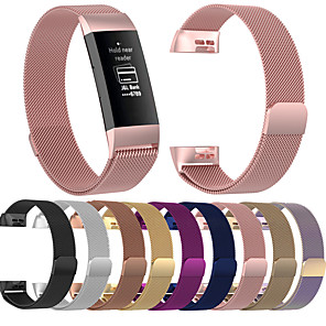 Недорогие Ремешки для спортивных часов-ремешок для часов для Fitbit заряда 3 FitBit милан петля ремешок из нержавеющей стали