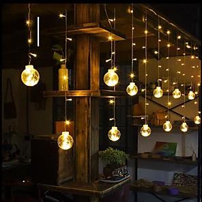 ieftine Becuri Solare LED-2,5m led dorind minge rotundă sferă de gheață lumini de Crăciun perdele de nuntă lumini decorative lumină de basm interior