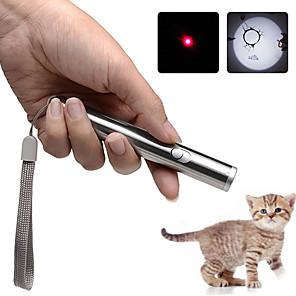 ieftine Accesorii Samsung-brelong 2 în 1 lanternă cu laser portabil mini lanternă cu lumină infraroșie pentru animale de companie pisică cu jucărie pix cu laser torță mică 1 buc