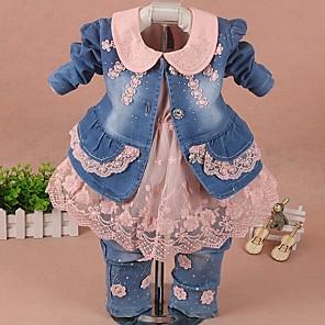 povoljno Muške košulje-Dijete Djevojčice Ulični šik Color block Dugih rukava Regularna Komplet odjeće Obala