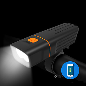 ieftine Frontale-LED Lumini de Bicicletă Veioză Iluminat Bicicletă Față Bicicletă Ciclism Rezistent la apă Portabil Ieșire de încărcare USB Baterie de litiu 500 lm USD Baterie reîncărcabilă Built-in alimentarea cu