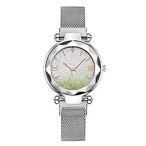 ieftine Cuarț ceasuri-Pentru femei Quartz Quartz Stil Oficial Stl Diamant sintetic Negru / Argint / Violet 30 m Culoare Gradient imitație de diamant Analog Modă Plin de Culoare - Negru Roz auriu Mov Doi ani Durată de