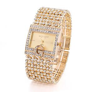 ieftine Ceasuri Brățară-Pentru femei Quartz Lux O noua sosire Argint Auriu Aliaj Quartz Auriu Argintiu Cronograf Ceas Casual imitație de diamant 1 piesă Analog / Oțel inoxidabil / Mare Dial