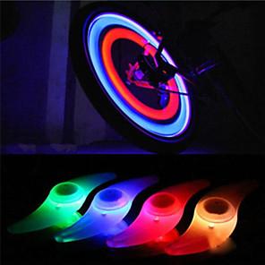 ieftine Lumini de Bicicletă-LED Lumini de Bicicletă Veioză lumini incandescente biciclete lumini de securitate Bicicletă Ciclism Rezistent la apă Moduri multiple LED lumina de fundal C-Cell 1 lm Roșu Albastru Verde Ciclism