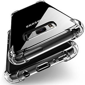 voordelige Galaxy S-serie hoesjes / covers-anti-klop siliconen hoesje voor Samsung Galaxy S10 s9 s8 plus s7 edge note 10 9 8 plus a90 80 70 50 40 30 20 10 a 9 8 7m20 tpu helder volledig beschermhoes
