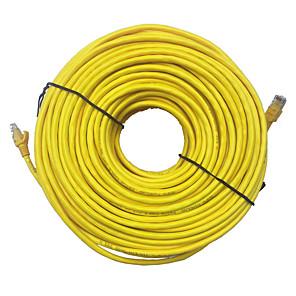 ieftine Cabluri Ethernet-20m galben de rețea externă de cablu Ethernet cat5e 100% cupru rj45 mar24 de calitate superioară