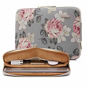 "povoljno MacBook Pro 15"" maske-13,3 14,1 15,6 inčni univerzalni ruža uzorak platna, vodootporna torba za laptop rukava, torba za macbook / površinu / xiaomi / hp / dell / samsung / sony itd."